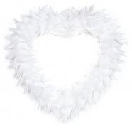 Dekorační srdce bílé z peří
