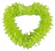Dekorační srdce světle zelené z peří