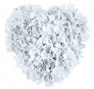 Dekorační srdce bílé květy