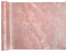 Šerpa na stůl růžovozlatá metalická Fanon 30 cm x 5 m