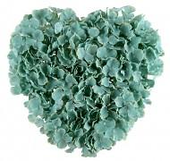 Dekorační srdce mátové květy