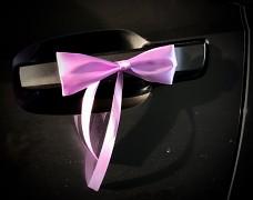Saténová mašle světle fialová lila se stuhou