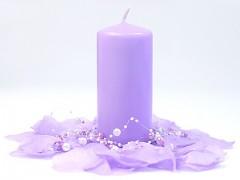Svíčka válec světle fialová 60 mm x 120 mm