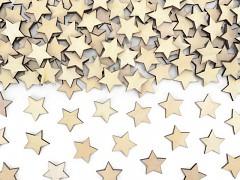 Dřevěná dekorace hvězdičky 50 ks