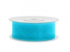 Šifónová tyrkysově modrá stuha 25 mm x 25 m