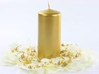Svíčka válec zlatá 60 mm x 120 mm