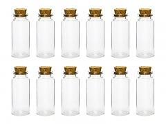 Skleněná lahvička s korkem 12 ks
