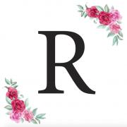 Písmeno R kartička s růžemi