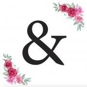 Písmeno & kartička s růžemi