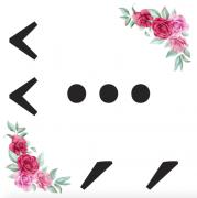 Interpunkce kartička s růžemi