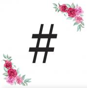 Znak # kartička s růžemi