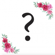 Znak ? kartička s růžemi