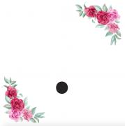 Znak . kartička s růžemi