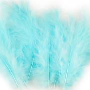 Ozdobné peříčko jemně tyrkysově modré 20 ks