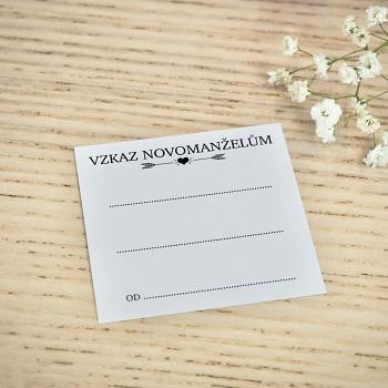 Kartička Vzkaz novomanželům