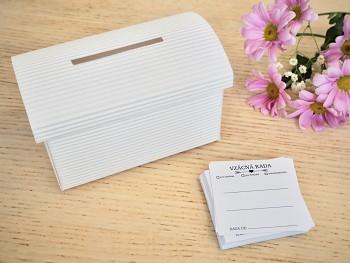 Set truhlička bílá a 50 ks kartiček Vzácná rada