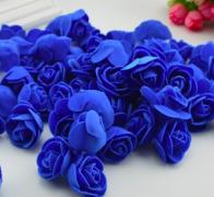 Růžička pěnová královsky modrá 3,5 cm