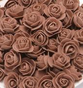 Růžička pěnová hnědá 3,5 cm