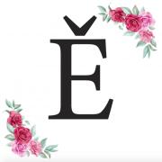 Písmeno Ě kartička s růžemi