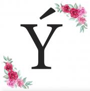 Písmeno Ý kartička s růžemi