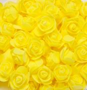 Růžička pěnová žlutá 3,5 cm