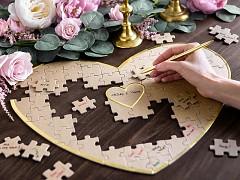 Kniha hostů puzzle srdíčko