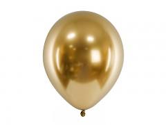 Balónek chromový zlatý