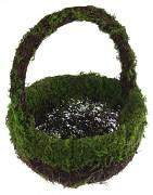 Košíček pro družičku dřevěný s mechem