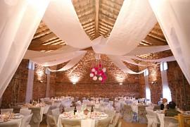 Svatební kakemono na strop bílé 80 cm x 50 m