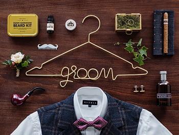 Ramínko groom na svatební oblek