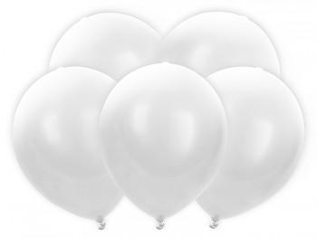 5 ks Led svítící balónky bílé pastelové