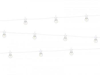Světelný řetěz bílý RETRO žárovky LED
