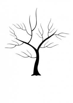 Svatební strom č.11 černý A4