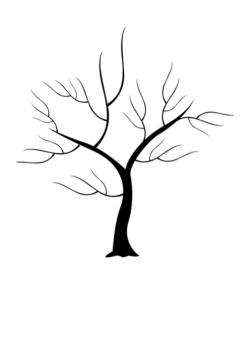 Svatební strom č.11 černý A3