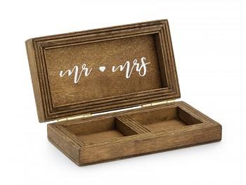 Dřevěná krabička na prstýnky