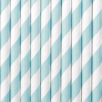 Brčka bílo světle modrá 10 ks