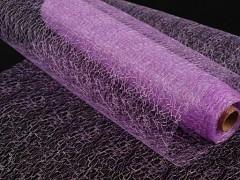 Organza pavučinka 30 cm x 9 m fialová lila