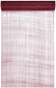 Šerpa na stůl sinamay burgundy 30 cm x 5 m