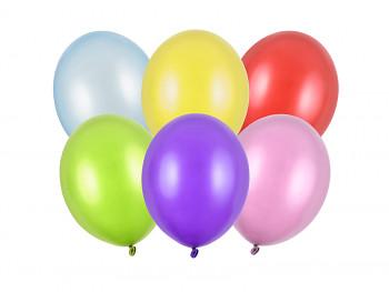 Balónky mix barev metalické 10 ks