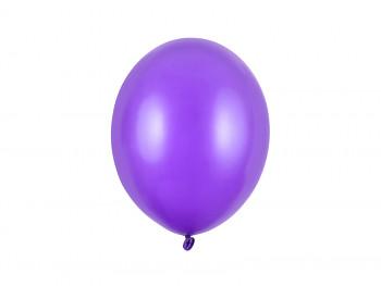 Balónek metalický tmavě fialový 10 ks