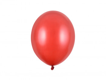 Balónek metalický červený 10 ks