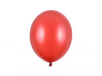 Balónek metalický červený 100 ks
