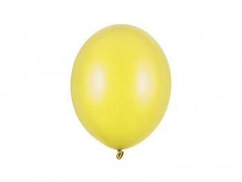 Balónek metalický žlutý 100 ks