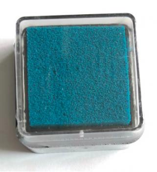 Razítkovací polštářek petrolejově modrý