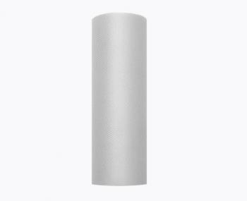 Tyl 15 cm x 9 m světle teplý šedý