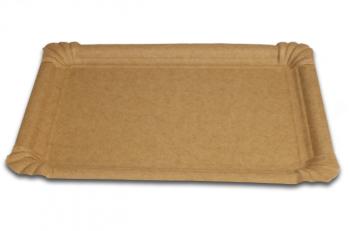 250 ks tácky papírové přírodní 13 x 20 cm