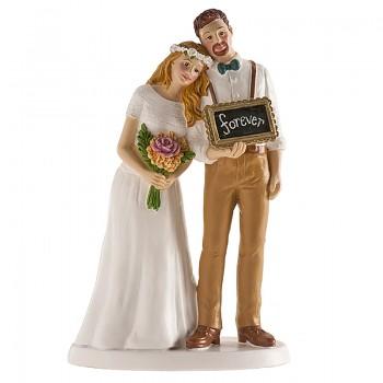 Nevěsta a ženich boho styl - svatební figurky