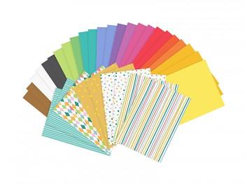 Sada sytých barevných papírů A4 34 ks