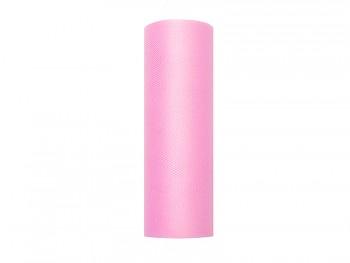 Tyl 15 cm x 9 m růžový